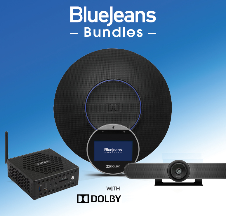 bluejeans Dolby bundle with Logitech Meetup