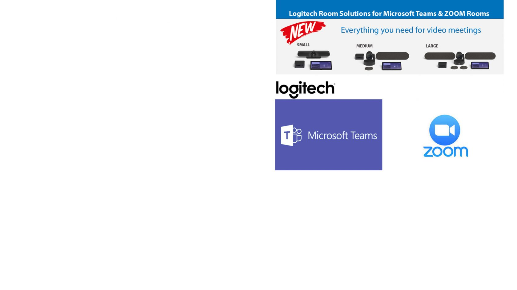 NEW Logitech Room Solutions for Microsoft Teams & Zoom Rooms – Everything you need for video meetings