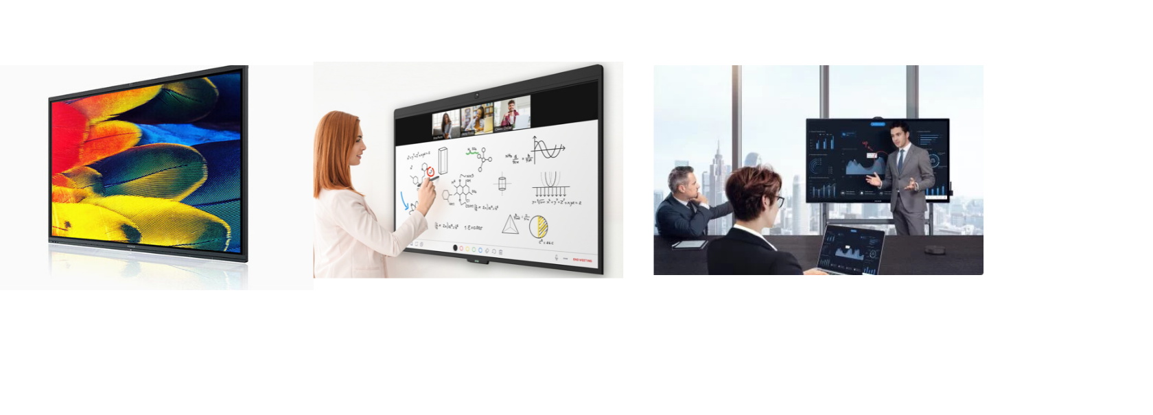 Maxhub V5 new range of touch screens available now   Also see DTEN Zoom board